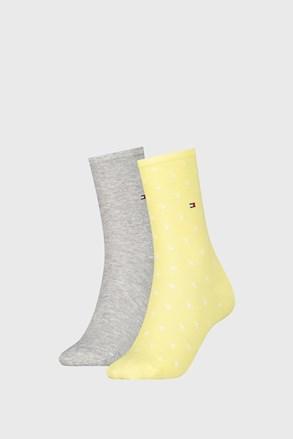 2 ПАРИ жіночих шкарпеток Tommy Hilifiger Dot Yellow
