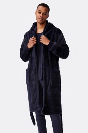 Темно-синій халат Plush