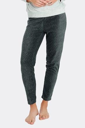 Жіночі піжамні штани в горошок
