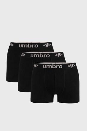 3 ШТ чорних боксерок Umbro Organic cotton
