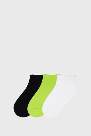 3 ПАРИ низьких шкарпеток для дівчинки Mayoral Лайм