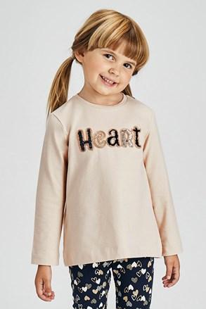 Комплект легінсів та лонгсліва для дівчаток Mayoral Heart