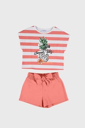 Комплект футболка і шорти для дівчаток Mayoral Summer Vibes