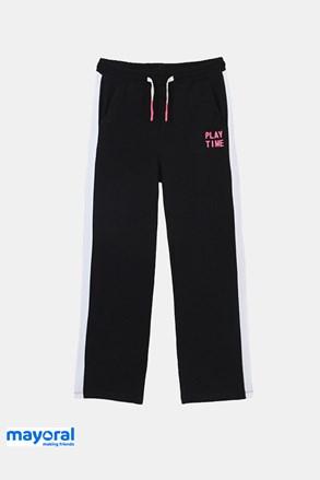 Трикотажні штани для дівчинки Mayoral Playtime чорні
