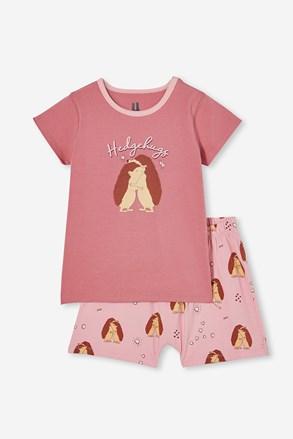 Піжама для дівчаток Hedgehog hugs коротка