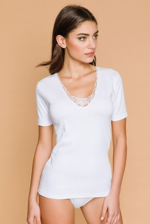 Жіноча футболка з мереживом