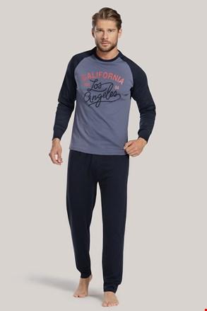 Чоловіча синя піжама з написом