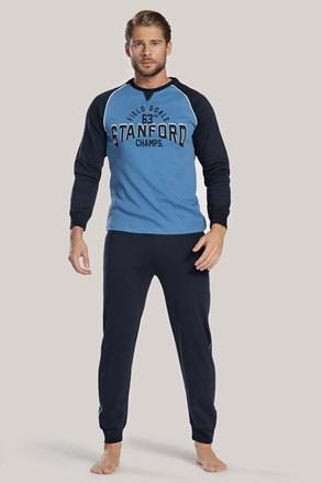 Чоловіча темно-синя піжама з написом