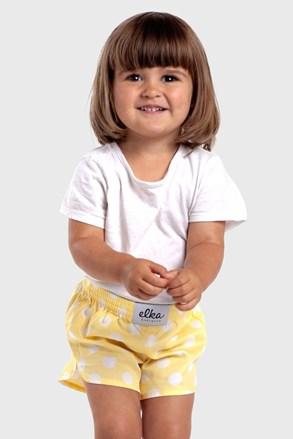 Дитячі труси-шорти ELKA LOUNGE Жовтий горошок