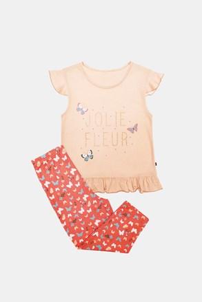 Піжама для дівчаток Lila помаранчева