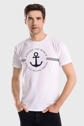 Біла футболка Captain Blues