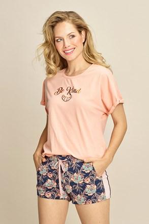Жіноча піжамна футболка Be kind