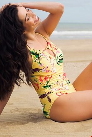 Жіночий суцільний купальник Yellow Exotic