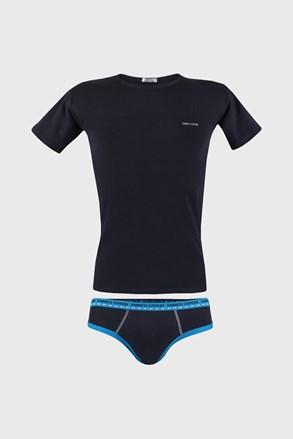 Синій комплект футболка і сліпи для хлопчика