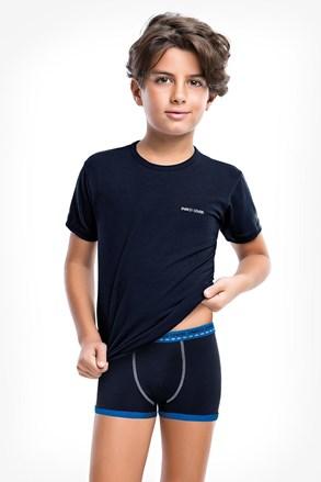 Синій комплект боксерок і футболки для хлопчиків