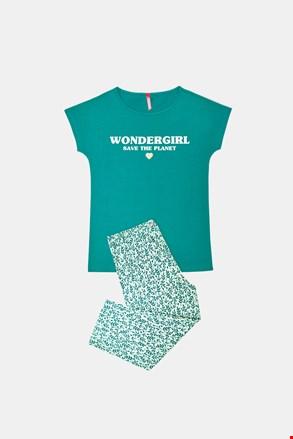 Піжама для дівчинки Save planet зелена