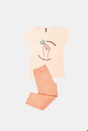 Піжама для дівчаток Save planet помаранчева