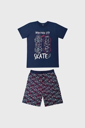 Піжама для хлопчиків Skate темно-синя