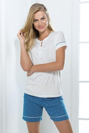 Жіночий роздільний домашній комплект біло-синій