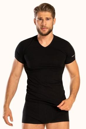 Чоловіча футболка з V-подібним вирізом чорна