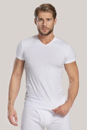Чоловіча футболка з V-подібним вирізом біла