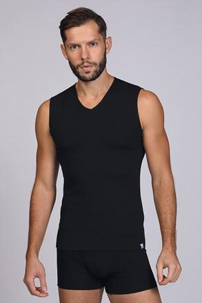 Чорна футболка без рукавів