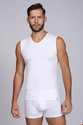 Біла футболка без рукавів