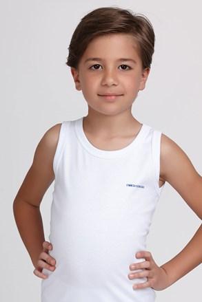Майка для хлопчика біла базова