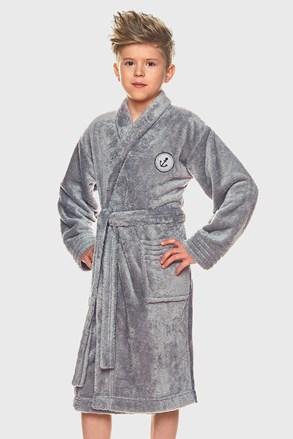 Халат для хлопчиків Elegant сірий