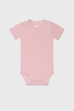 Бодік для дівчаток з короткими рукавами Baby рожевий