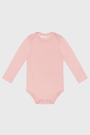 Бодік з довгими рукавами для дівчаток Baby рожевий