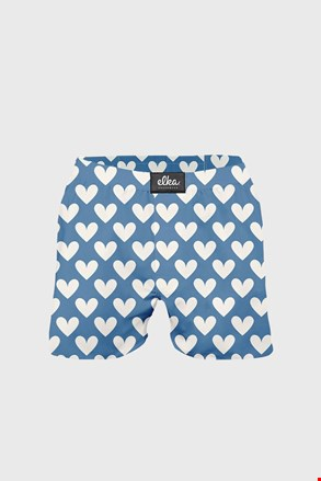 Сині труси-шорти ELKA LOUNGE з сердечками