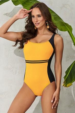 Жіночий суцільний купальник Clara Yellow