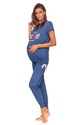 Піжама для годуючих мам Best mom синя