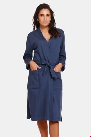 Жіночий бавовняний халат Deep Blue