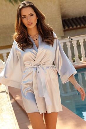 Жіночий атласний халат Silver