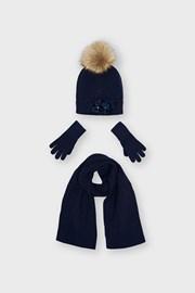 Комплект шапки і шарфа для дівчаток Mayoral