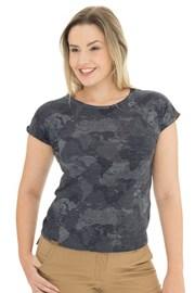 Жіноча синьо-сіра футболка Bushman Kira