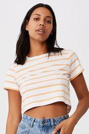 Жіноча базова футболка з короткими рукавами Baby в смужку