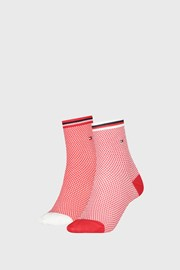 2 ПАРИ жіночих шкарпеток Tommy Hilfiger Honeycomb Red