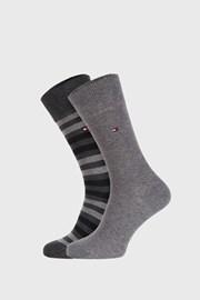 2 ПАРИ сірих шкарпеток Tommy Hilfiger Duo stripe