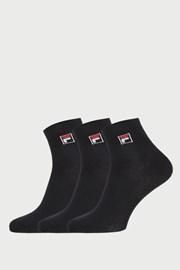 3 ПАРИ чорних низьких шкарпеток FILA