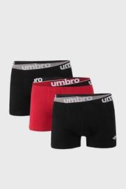 3 ШТ бордово-чорних трусів боксерів Umbro