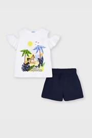 Комплект футболка і шорти для дівчат Mayoral Aloha