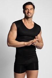 Чорна термо футболка без рукавів