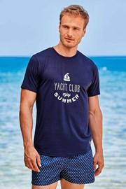 Темно-синя футболка Yacht Club