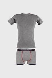 Сірий комплект боксерок і футболки для хлопчиків