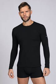 Чорна футболка з довгим рукавом
