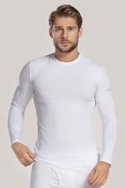 Біла футболка з довгим рукавом