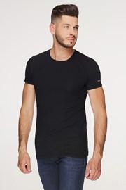 Чорна бавовняна футболка PLUS SIZE